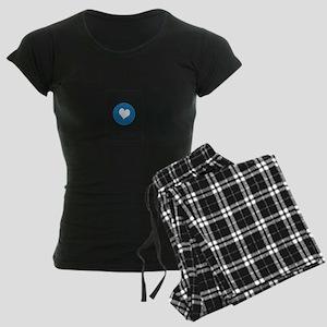 I Love San Diego Women's Dark Pajamas
