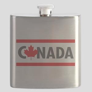 CANADA - Red Design Flask