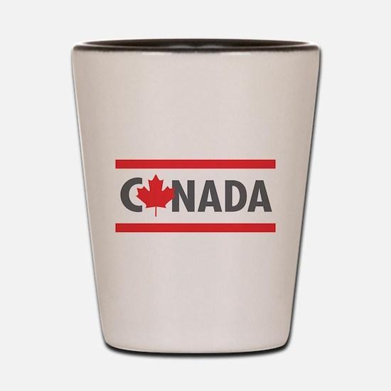 CANADA - Red Design Shot Glass