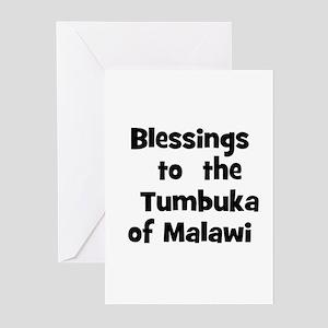 Blessings  to  the  Tumbuka o Greeting Cards (Pk o