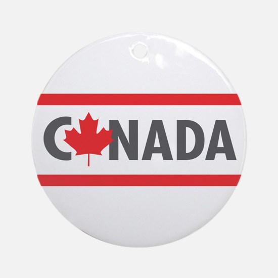 CANADA - Red Design Round Ornament