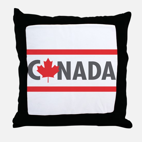 CANADA - Red Design Throw Pillow