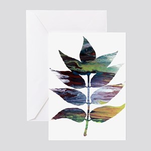 Ash leaves Greeting Cards