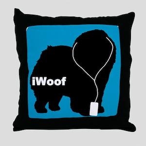 iWoof Chow Throw Pillow