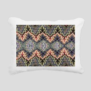bohemian floral tribal p Rectangular Canvas Pillow