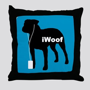 iWoof Pit Bull Throw Pillow