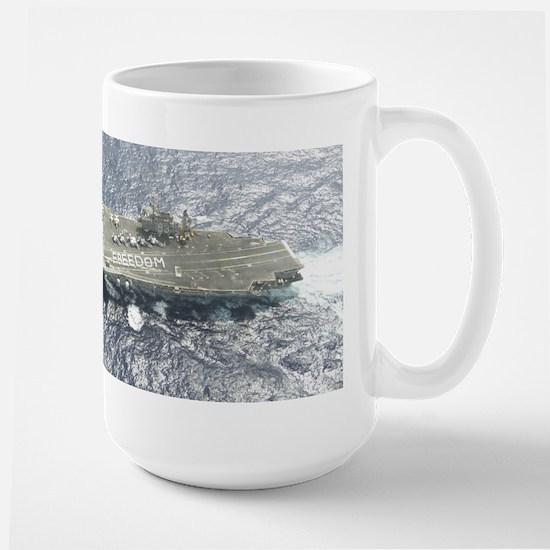 USS Kitty Hawk CV63 'Freedom' Large Mug