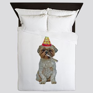 Lhasa Apso Birthday Queen Duvet