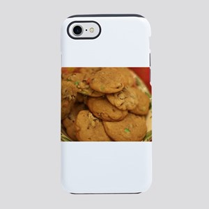 a plate of chocolate chipcoo iPhone 8/7 Tough Case