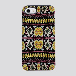 yellow floral tribal pattern iPhone 8/7 Tough Case