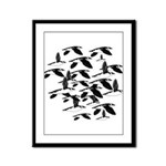 Little Auk Flock Framed Panel Print