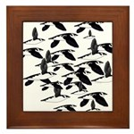 Little Auk Flock Framed Tile