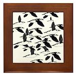 Little Auk Flock Framed Tile