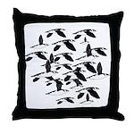 Little Auk Flock Throw Pillow