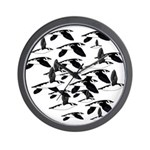 Little Auk Flock Wall Clock