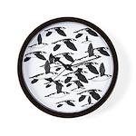 Little Auk Flock Wall Clock