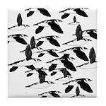 Little Auk Flock Tile Coaster