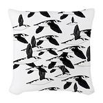 Little Auk Flock Woven Throw Pillow