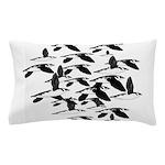 Little Auk Flock Pillow Case