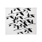 Little Auk Flock Throw Blanket