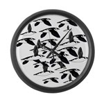 Little Auk Flock Large Wall Clock