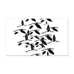 Little Auk Flock Rectangle Car Magnet