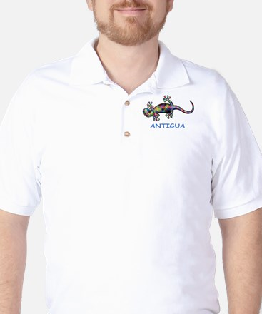Antigua & Barbuda Gecko Golf Shirt
