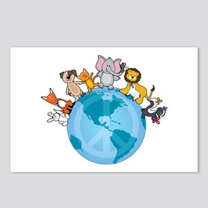 Peace on Earth Animals Postcards (Package of 8)
