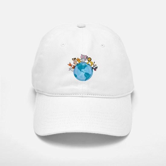 Peace on Earth Animals Baseball Baseball Cap