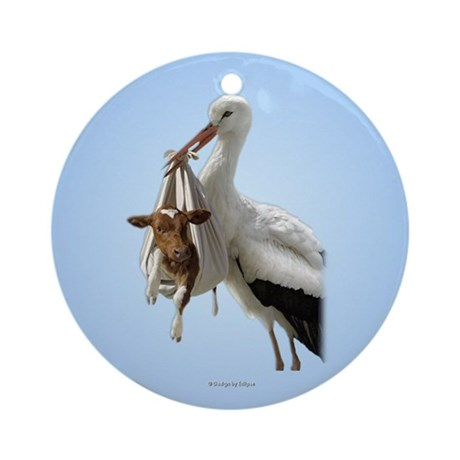 Stork Delivery Ornament (Round)