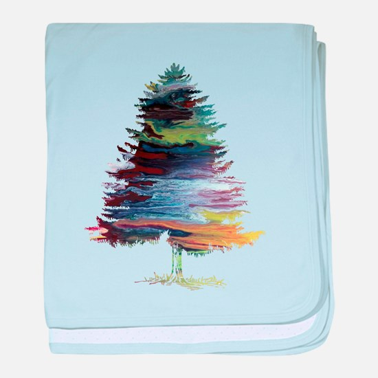 Fir Tree baby blanket