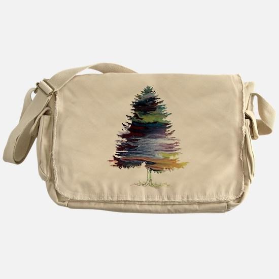 Fir Tree Messenger Bag