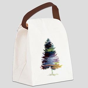 Fir Tree Canvas Lunch Bag
