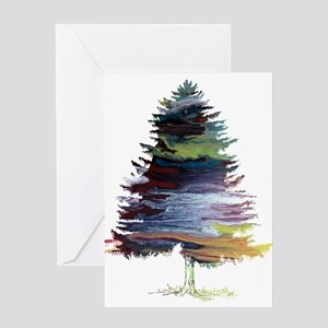 Watercolor painting greeting cards cafepress fir tree greeting cards m4hsunfo