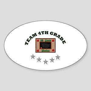 Team 4th grade Oval Sticker