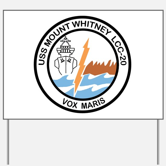 USS Mount Whitney LCC 20 Yard Sign