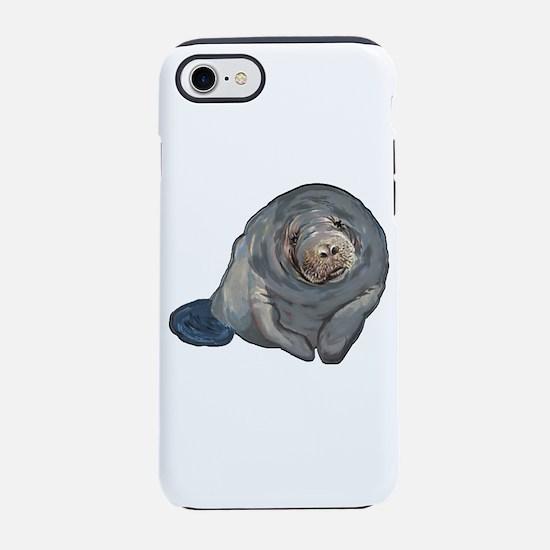 Cute Manatee iPhone 8/7 Tough Case