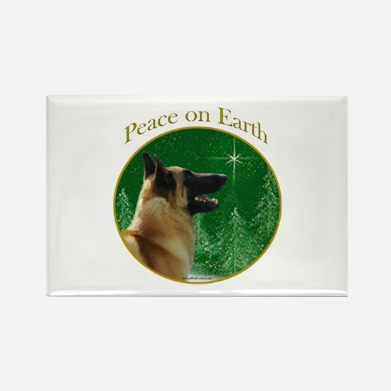 Malinois Peace Rectangle Magnet (10 pack)