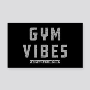 Lambda Chi Alpha Gym Vibes Rectangle Car Magnet