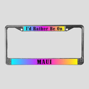 Maui Rainbow License Plate Frame