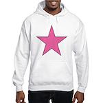 PINK STAR Hooded Sweatshirt