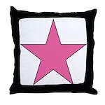 PINK STAR Throw Pillow