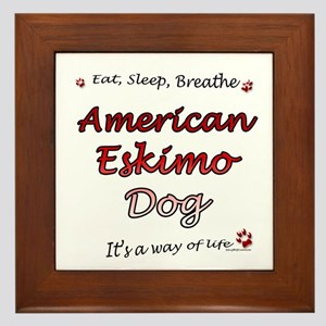Eskimo Breathe Framed Tile