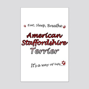 Staffy Breathe Mini Poster Print