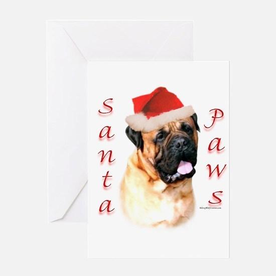 Santa Paws Bullmastiff Greeting Card