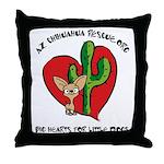 Arizona Chihuahua Rescue Throw Pillow