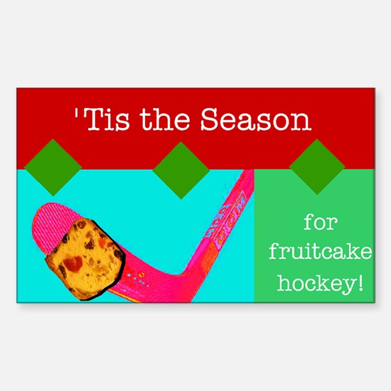 Fruitcake Hockey Rectangle Decal