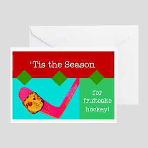 Fruitcake Hockey Greeting Card