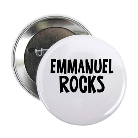 "Emmanuel Rocks 2.25"" Button"
