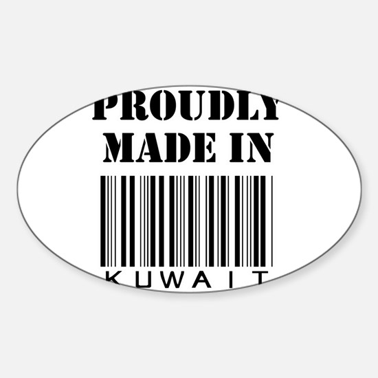 Made in Kuwait Oval Decal
